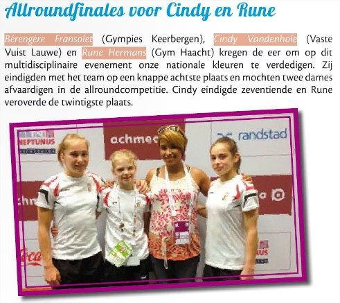 Foto p. 10  Gymtalk jul-aug-sep 2013